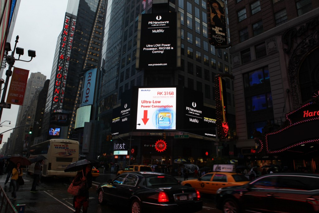 Rockchip RK3168 on New York's Times Square