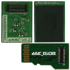 eMMC Module 64GB and emmc reader 200 percent faster than a class 10 sdhc card