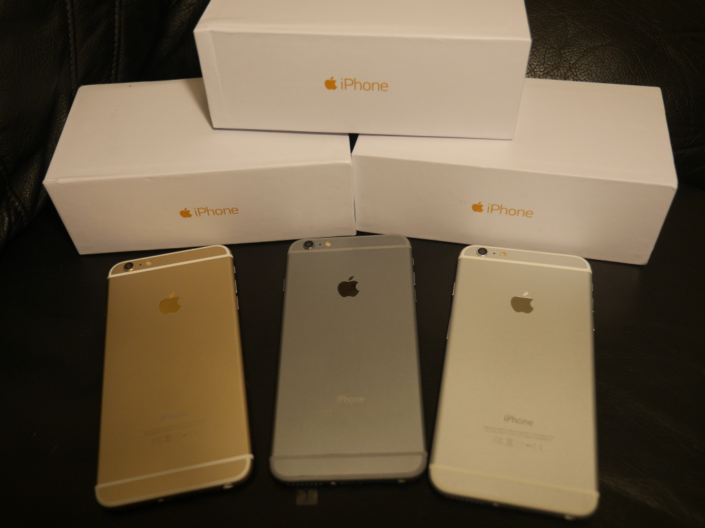 all three colors of iPhone 6 Plus clone